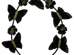 סרט פרפרים צבעים שחור זהב