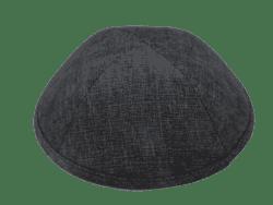 כיפה בד חליפה מחוספס צבע אפור כהה