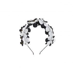 קשת פרחים צבע שחור לבן
