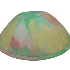 כיפה צבעי פסטל דוגמא צבעי מים