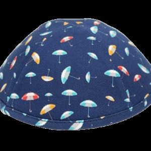 כיפה רקע כחול הדפסי מטריות