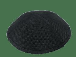 כיפה צבע שחור מבד מחוספס