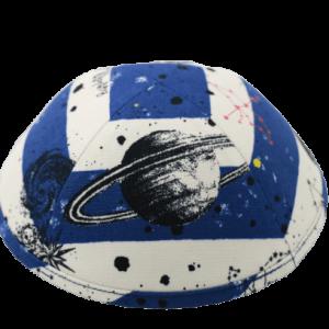 כיפה חלל גוונים כחול לבן