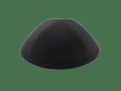 כיפה מבד פשתן צבע שחור