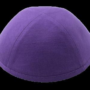 כיפה בד פשתן צבע סגול