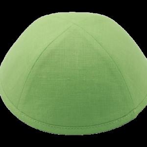 כיפה מבד פשתן צבע ירקרק