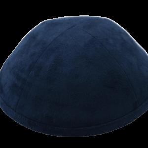 כיפה צבע כחול מבד זאמש