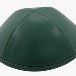 כיפה מבד עור צבע ירוק