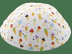 כיפה רקע תכלת בהיר גלידות