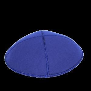 כיפה עור צבע כחול רויאל