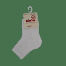 גרב אמצע דוגמא צמה – לבן