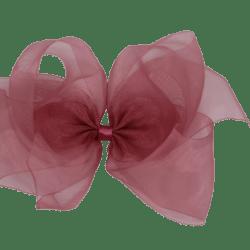 """סיכה אורגנזה צבע דובדבן – 18 ס""""מ"""