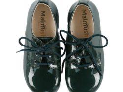 נעל לק קלאסית צבע ירוק בקבוק