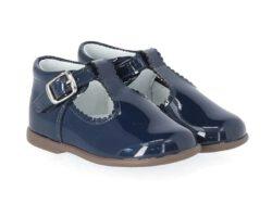 נעל בובה גזרה גבוהה צבע כחול כהה