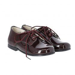 נעלי לק קלאסית צבע בורדו
