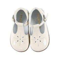 נעל לק צבע שמנת