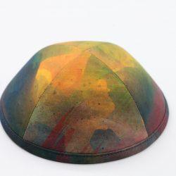 כיפה הדפס צבעי מים גוונים כהים