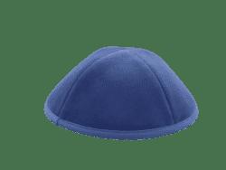 כיפה מבד קטיפה צבע כחול פטרול
