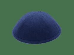 כיפה מבד פשתן צבע כחול