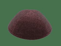 כיפה מבד ברוקד צבע שחור נצנצים צבע אדום