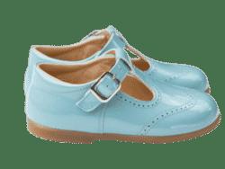 נעל לוחות הברית עם אבזם צבע תכלת