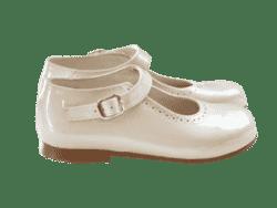 נעל בובה צבע שמנת זהוב