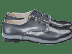 נעל קלאסית בנים צבע אפור כהה
