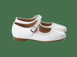 נעל לק בובה צבע לבן