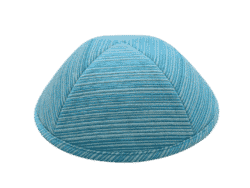 כיפה מבד ברוקד צבע טורקיז