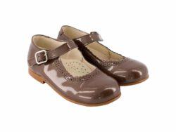 נעל בובה בנות צבע חום