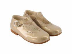 נעל בובה צבע זהב סגירת אבזם