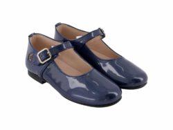 נעל בובה סגירת אבזם צבע כחול