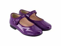 נעל בלרינה צבע סגול חזק סגירת תיק-תק