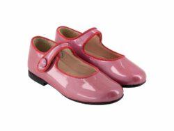 נעל בלרינה צבע ורוד עתיק סגירת תיק-תק