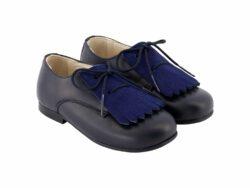 נעל בנים צבע כחול מט לשונית זאמש